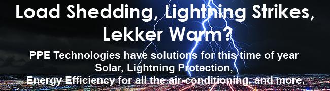 load shedding and lightning strikes